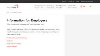 Information for Employers | TelstraSuper