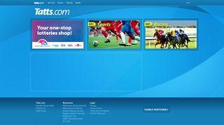 Tatts.com: Lotto, Racing & Sports Betting Online