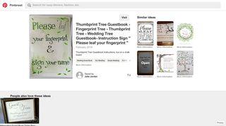 Thumbprint Tree Guestbook - Fingerprint Tree - Thumbprint Tree ...