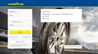 Goodyear Credit Card: Sign On