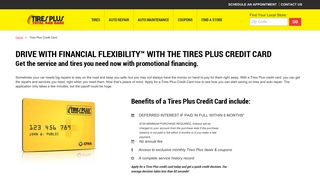 Apply Now for a Tires Plus Credit Card   Tires Plus