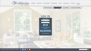 login - California Title Company