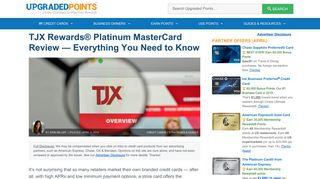 TJX Rewards® Platinum MasterCard - Is It Worth Signing Up? [2019]