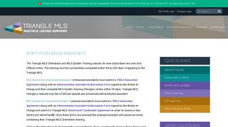 Administrative Assistant - Triangle MLS