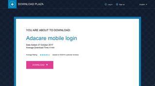 Adacare mobile login