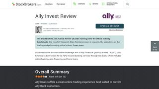 Ally Invest Review (Official)   StockBrokers.com