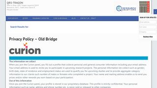 Curion's Old Bridge Consumer Panel - Search Results – QRS-Tragon
