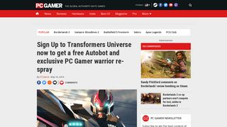 Sign Up to Transformers Universe now to get a free Autobot and ...