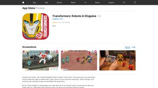 Transformers: Robots in Disguise on the App Store - iTunes - Apple