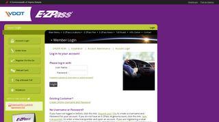 VDOT :: Login Page - E-ZPass