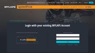Log in - Speedhive - MYLAPS.com