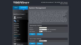 TRENDNET   TEW-827DRU   Administrator   Management
