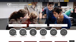 Current Students   Trinity University