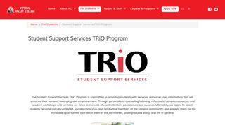 Student Support Services TRiO Program - For Students - Imperial ...