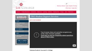 TRiO Student Support Services - Lee College
