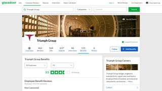 Triumph Group Employee Benefits and Perks   Glassdoor