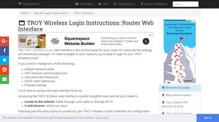 TROY Wireless Login: How to Access the Router Settings | RouterReset