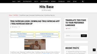 TrulyAfrican Login   Download TrulyAfrican App   TrulyAfrican Sign Up