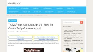 TrulyAfrican Account Sign Up   How To Create TrulyAfrican Account