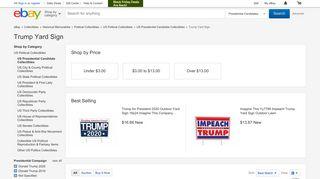 Trump Yard Sign | eBay