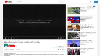 Liberal Electrocuted Trying to Steal Donald Trump Sign - YouTube