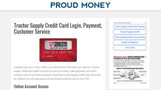Tractor Supply Credit Card Login, Payment, Customer Service - Proud ...