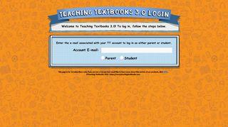 Teaching Textbooks Login