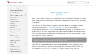 Site Code | Imagine Learning Support