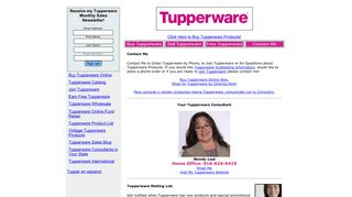 Contact Me to Order Tupperware by Phone, to Join Tupperware or for ...
