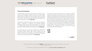 TruMatch: Welcome to DePuy TruMatch personalized solutions