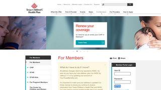 For Members | Texas Children's Health Plan