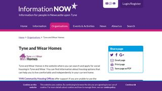 Tyne and Wear Homes - Information Now