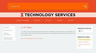 U of I Box   Technology Services at Illinois