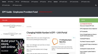 Changing Mobile Number in EPF - UAN Portal