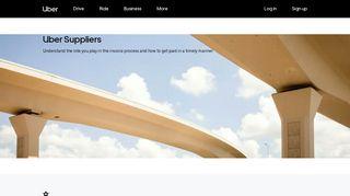 Uber Supplier Portal | Uber