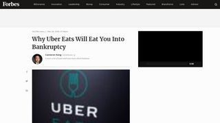 Why Uber Eats Will Eat You Into Bankruptcy - Forbes