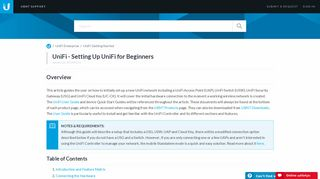 UniFi - Setting Up UniFi for Beginners – Ubiquiti Networks Support ...