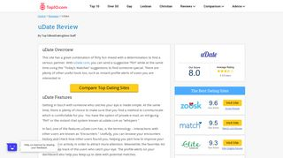 uDate Expert Review: Dating Site Ratings, Costs & Features