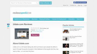 Udate.com Reviews - Legit or Scam? - Reviewopedia