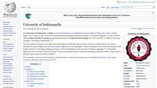 University of Indianapolis - Wikipedia