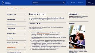 Remote access - Library - UiS