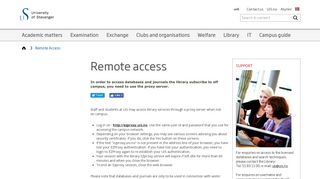 Remote Access - Study help - Library - University of Stavanger ... - UiS