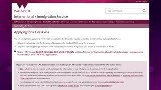 Applying for a Tier 4 visa