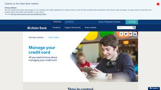 Manage your credit card - Credit Cards | Ulster Bank