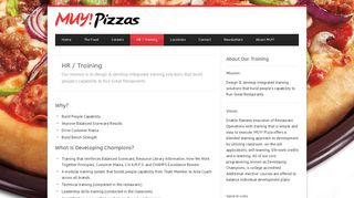 MUY Pizzas HR / Training - MUY Pizzas