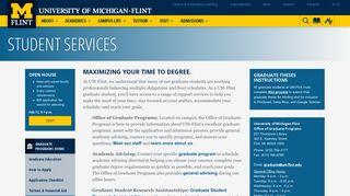 Student Services | University of Michigan-Flint