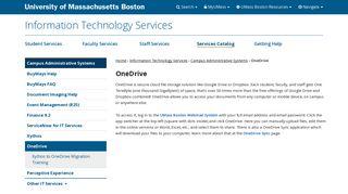 OneDrive - University of Massachusetts Boston