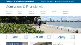 Admissions - UMass Boston