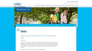 Rates   Residential Life - University of Missouri - Kansas City