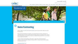 Rates/Contracting   Residential Life - University of Missouri - Kansas City
